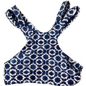 Tori praver cut out halter neck bikini top size S